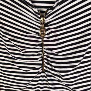 Michael Kors Tops - Michael Kors Medium Blouse Striped Black White 972